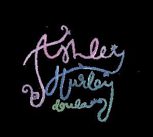 Ashley Hurley Doula Logo Pink Watercolor